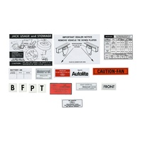 1972 Mustang 12 Piece Decal Kit