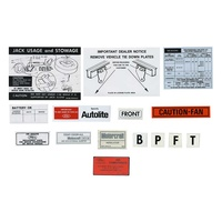 1973 Mustang 12 Piece Decal Kit