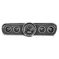1965- 66 Ford Mustang VHX Instruments Black Face & White LED Lighting - METRIC