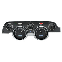 1967 - 1968 Ford Mustang VHX Instruments Black Alloy Background White Lighting METRIC