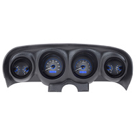 1969 - 1970 Ford Mustang VHX Instruments Carbon Face with Blue LED Lighting Metric