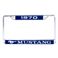 1970 Mustang Year Dated License Plate Frame