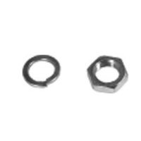 1964 - 1973 Mustang Alternator Pulley Lock Washer & Nut (Zinc (Silver))