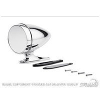 Chrome Bullet Mirror with Long Base and Standard Glass