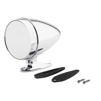 Chrome Bullet Mirror with Short Base and Standard Glass