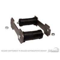 "66-73 Shackle Kit (Gray, Dual Exhaust, 1/2"" Rods)"