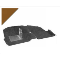 1965 - 1968 Mustang Coupe Molded Carpet Kit (Saddle)