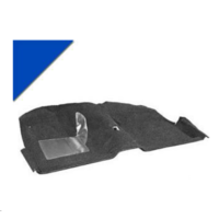 1965 - 1968 Mustang Convertible Molded Carpet Kit (Bright Blue)