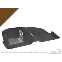 1965 - 1968 Mustang Convertible Molded Carpet Kit (Dark Brown)