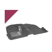 1965 - 1968 Mustang Convertible Molded Carpet Kit (Maroon)