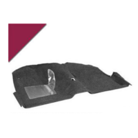 1965 - 1968 Mustang Molded Carpet Kit (Maroon)