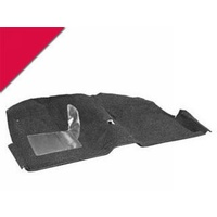 1969 - 1970 Mustang Coupe Molded Carpet Kit (Vermillion)