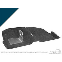 1969 - 1970 Mustang Fastback Molded Carpet Kit (Dark Blue)