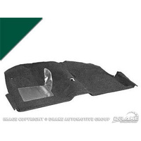 1971 - 1973 Mustang Coupe Molded Carpet Kit (Dark Green)