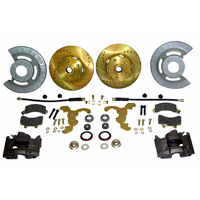 "Disc Brake Conversion Kit (V8, hi-po slotted rotors, single piston calipers, will not fit original 14""x5"" standard steel rims)"