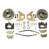 "Disc Brake Conversion Kit (6 Cylinder, 4 lug, single piston calipers, will not fit original 14""x5"" standard steel rims)"