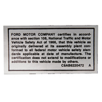Saftey Act Decal