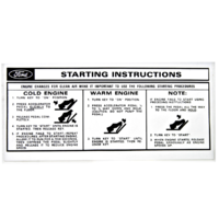 Sun Visor Start Instructions Sleeve Decal