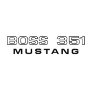 1971 Boss 351 Fender Decal (Black)