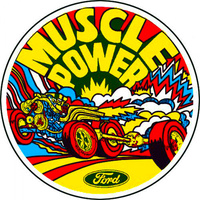Muscle Power Inside Window Decal