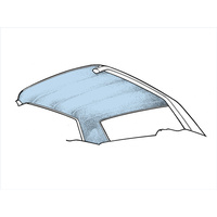 67-68 Cougar Headliner (Light Blue)