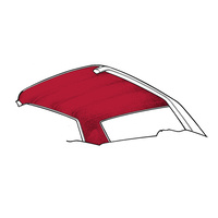 1964 - 1970 Mustang Coupe Headliner (Dark Red)