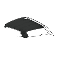 1971 - 1973 Mustang Coupe Headliner (Black)