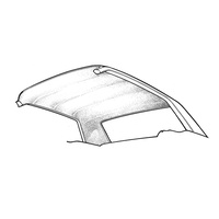 1971 - 1973 Mustang Coupe Headliner (White)