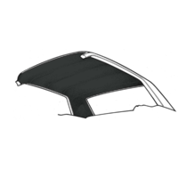 74-78 Mustang Hatchback Headliner (Black)