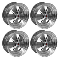17 x 7 Styled Alloy Wheel Charcoal Grey SET 4 with Mustang Caps & Nuts