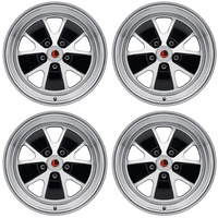 17 x 8 Styled Alloy Wheel Gloss Black SET 4 with Mustang Caps & Nuts