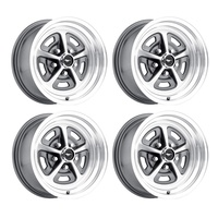 15 x 7 Magnum Alloy Wheel Charcoal Grey SET 4 with Mustang Caps & Nuts