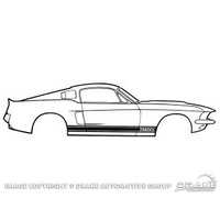 1966 - 1968 Shelby GT350 Stripe Kit-White
