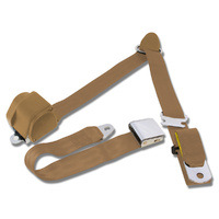 1964.5-73 Mustang 3-Point Seat Belt-Parchment - Pair