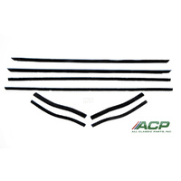 1964 - 1966 Mustang Window Felt Weatherstrip Kit, Coupe/Convertible (8 Pcs)