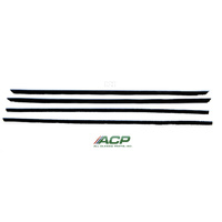 1967 - 1968 Mustang Window Felt Weatherstrip Kit, Fastback (4 Pcs)