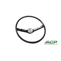 1968-1969 Mustang Standard Steering Wheel Black 2 Spoke