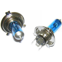 H4 Halogen Bulb 12v 60/50w Ultra White + 50% Brighter Pair