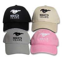 Ford Mustang 50 Years Logo Hat (Pink)