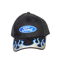 Ford Ball Cap (Silver Blue Flames)
