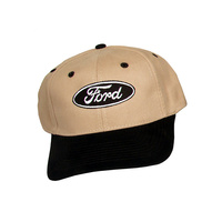 Ford Oval Logo Hat (Black & Tan)