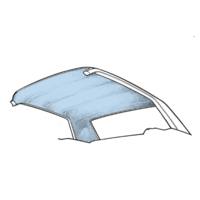 1964 - 1970 Mustang Coupe Headliner (Light Blue)