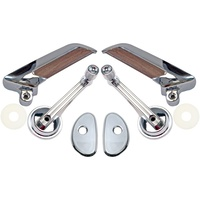 1965 - 1966 Mustang Fastback Door Handle & Window Crank Kit - Deluxe Pony Trim