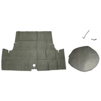 "1971 - 1973 Mustang Fastback Trunk Mat Kit 14"" Spare (Speckled)"