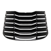 2015 - 2020 MP CONCEPTS MUSTANG REAR WINDOW LOUVERS - GLOSS BLACK