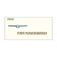 1966 Thunderbird Owners Manual