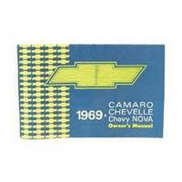 1969 Chevrolet Camaro Chevelle Chevy Nova Owners Manual