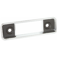 RetroSound Radio Faceplate Wolfsburg Chrome with Black Inserts 190mm x 54mm