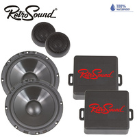 RetroSound 6.5-Inch 165mm Premium Ultra-thin Water-resistant Component Speaker System - Pair