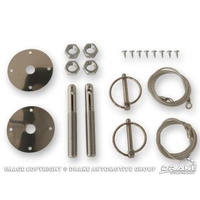 1964 - 1973 Mustang Hood Pin Kit (with Cables)